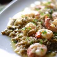 Risotto with Artichoke and Shrimps