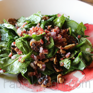 Spinach and Five Spiced Pecan Salad