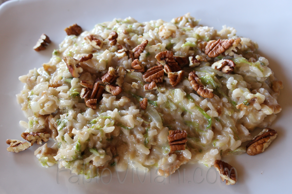 Savoy Cabbage Risotto with Pecans