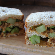 Cashew Butter, Celery, Golden Raisin Sandwich