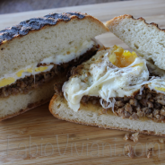Fried Egg Sausage and Cheese Panini