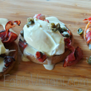 American Eggs Benedict with Capers