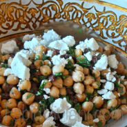 Chickpea and Goat Cheese Salad