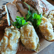 Roasted Turkey with Fontina-Stuffed Potatoes