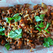 Sweet Potatoes with Spiced Almonds