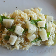 Thai Basil Risotto with Asian Pear