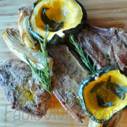 Roasted Pork Chops, Acorn Squash, and Endive