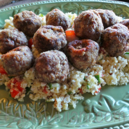 Veal Meatballs with Lemon Couscous