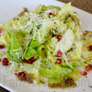 Butter Lettuce, Apples, Pomegranate Seed, Shaved Celery, Charred  Shallot Vinaigrette, Shaved Manchego