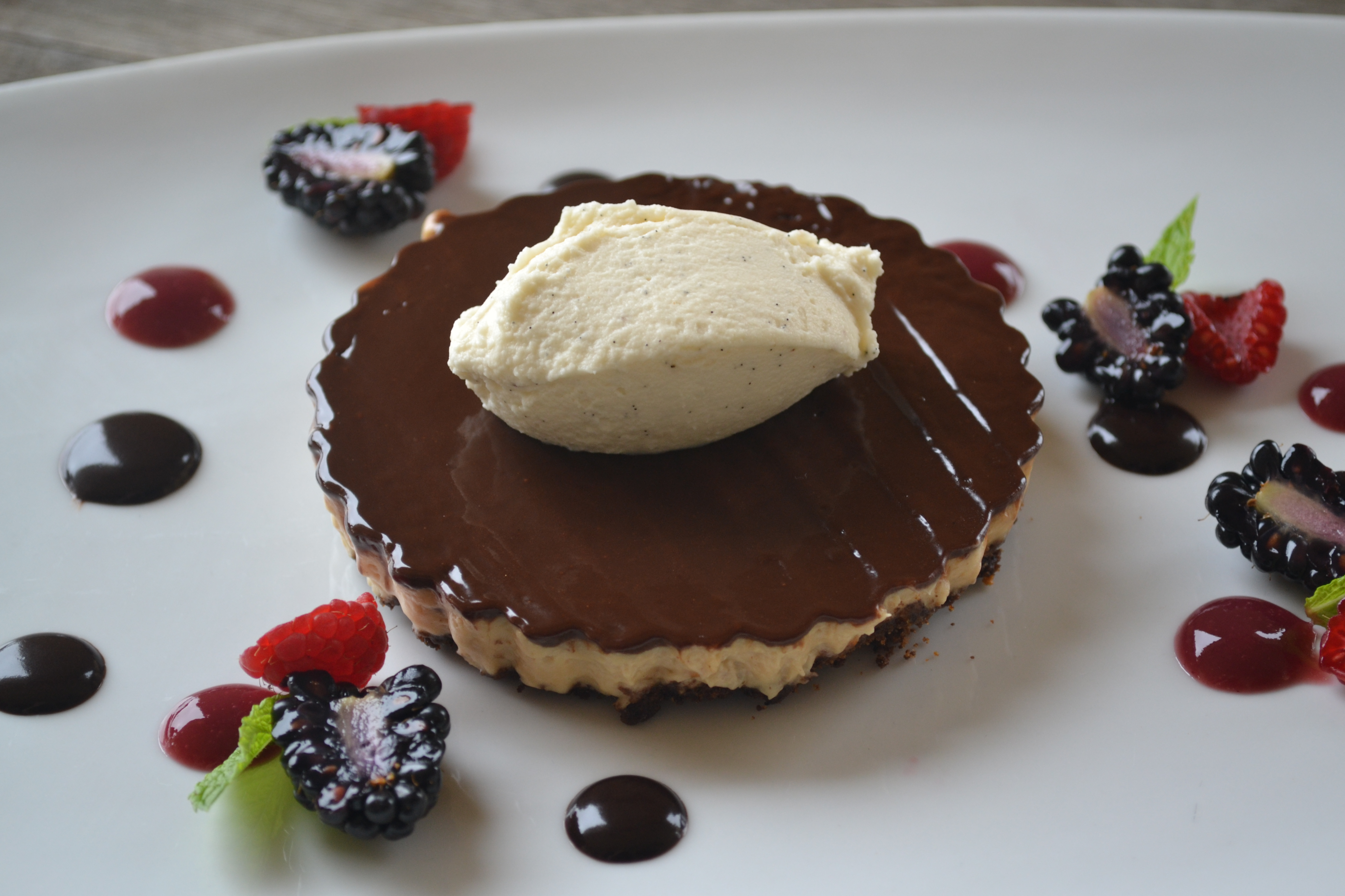 Chocolate & Peanut Butter Torte, Vanilla Mousse Spiced Chocolate ...