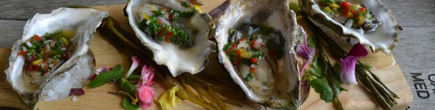 Fanny Bay Oysters on the Half Shell with Prosecco Mignonette