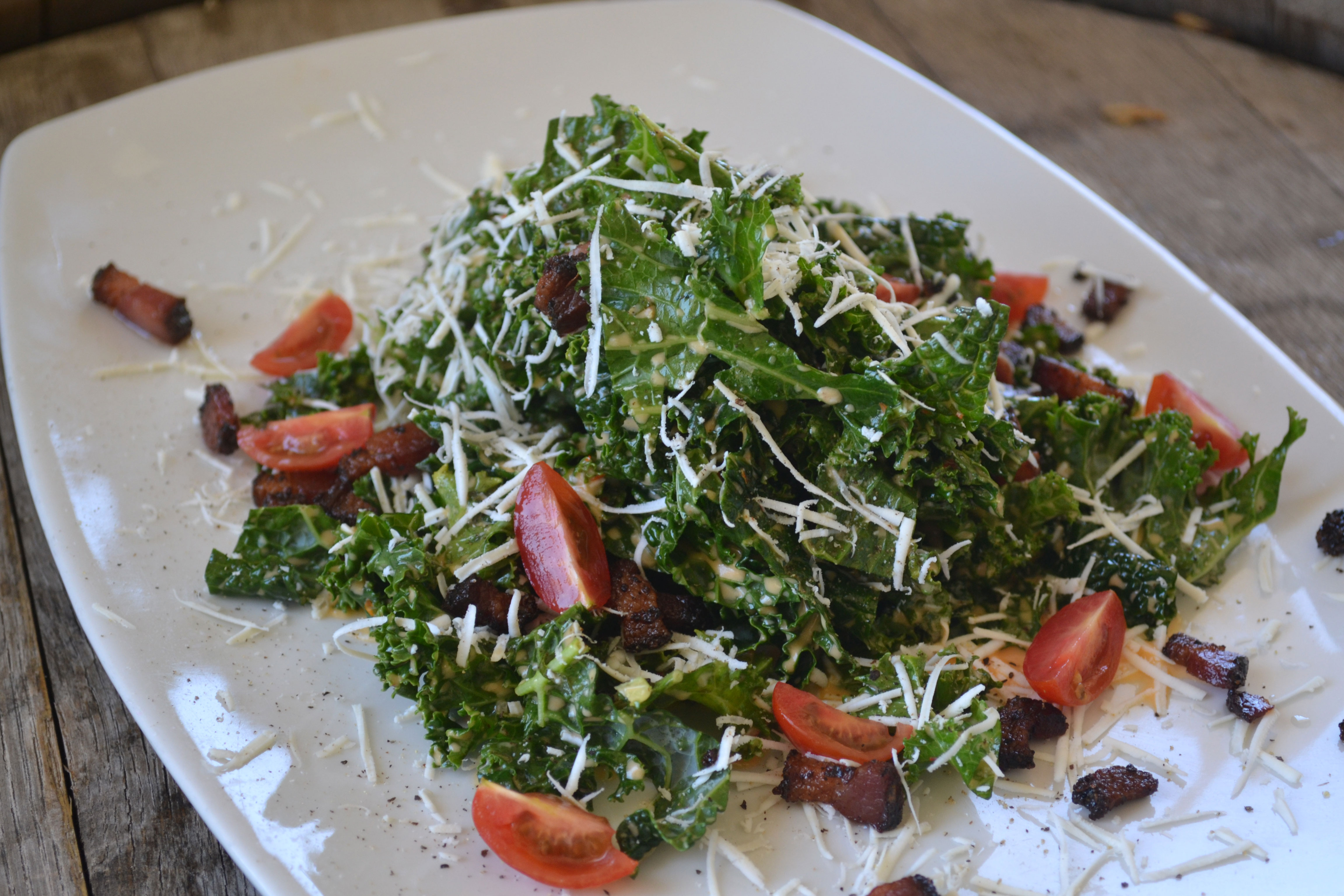 vinaigrette with zinfandel vinaigrette kale and smoked bacon salad ...